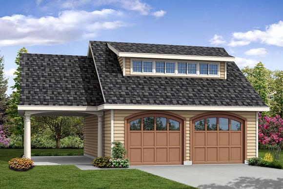 Contemporary 3 Car Garage Plan 41275 Elevation