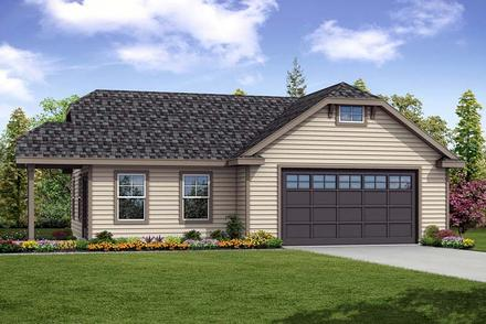 Cottage Country Elevation of Plan 41276