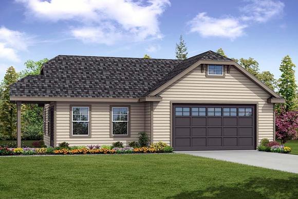 Cottage, Country 2 Car Garage Plan 41276 Elevation