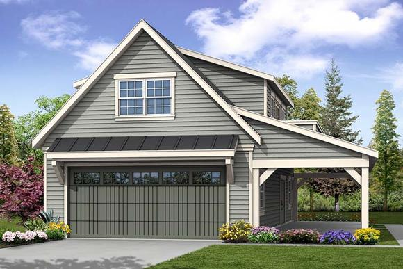 Country, Southern, Traditional 2 Car Garage Plan 41277 Elevation