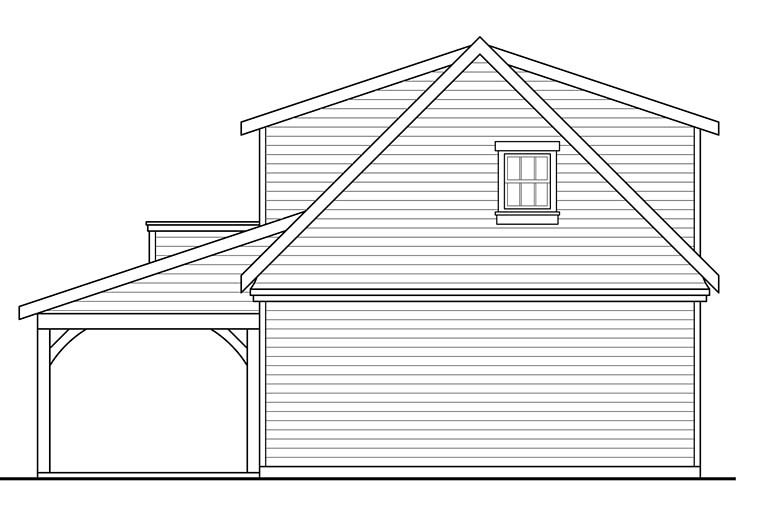 Country Southern Traditional Garage Plan 41277 Rear Elevation