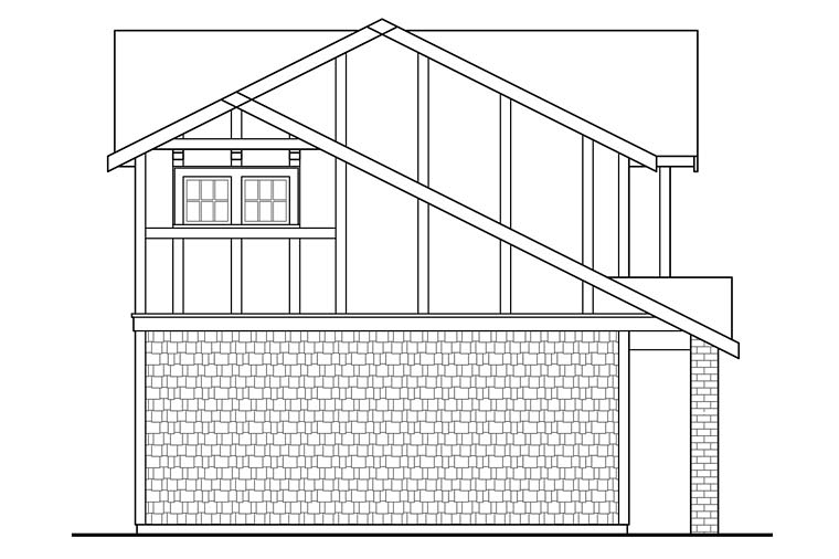 Traditional, Tudor 2 Car Garage Apartment Plan 41280 with 1 Beds, 1 Baths Picture 1