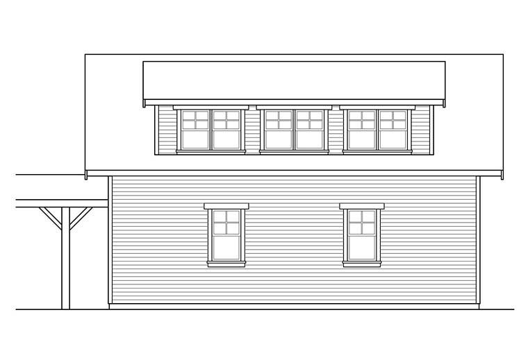 Traditional 2 Car Garage Apartment Plan 41281 Picture 1