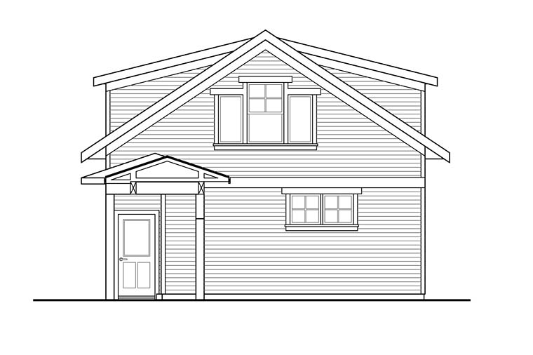 Traditional Garage Plan 41281 Rear Elevation