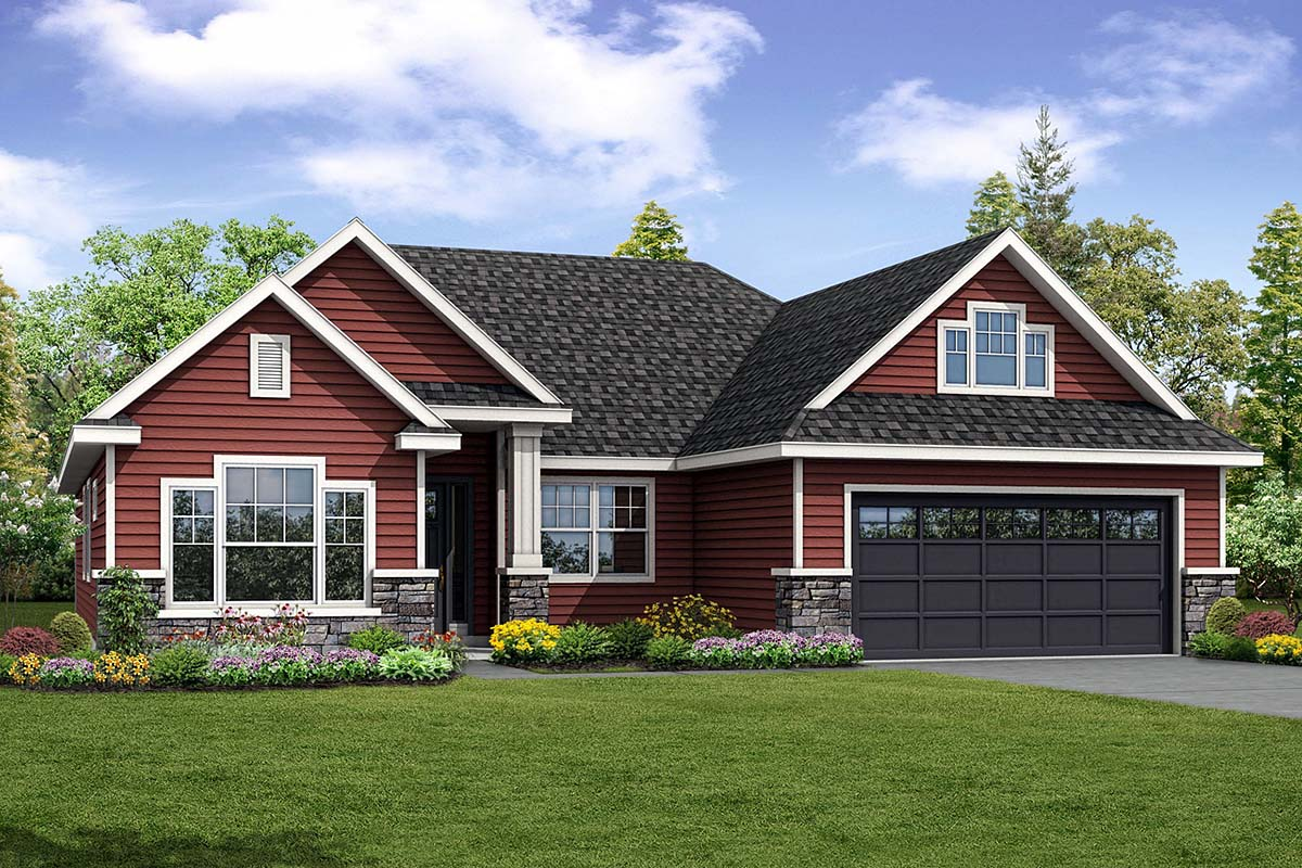 Country Ranch Traditional House Plan 41285 Elevation