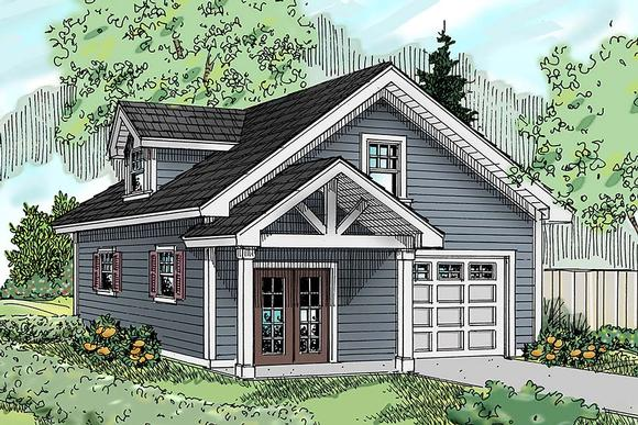 Country, Craftsman, Southern, Traditional 2 Car Garage Apartment Plan 41292 Elevation