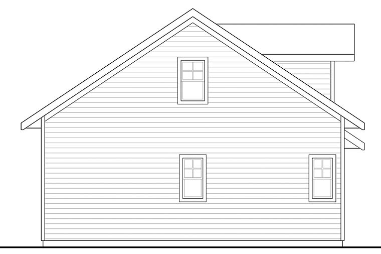 Country, Craftsman, Southern, Traditional 2 Car Garage Apartment Plan 41292 Rear Elevation
