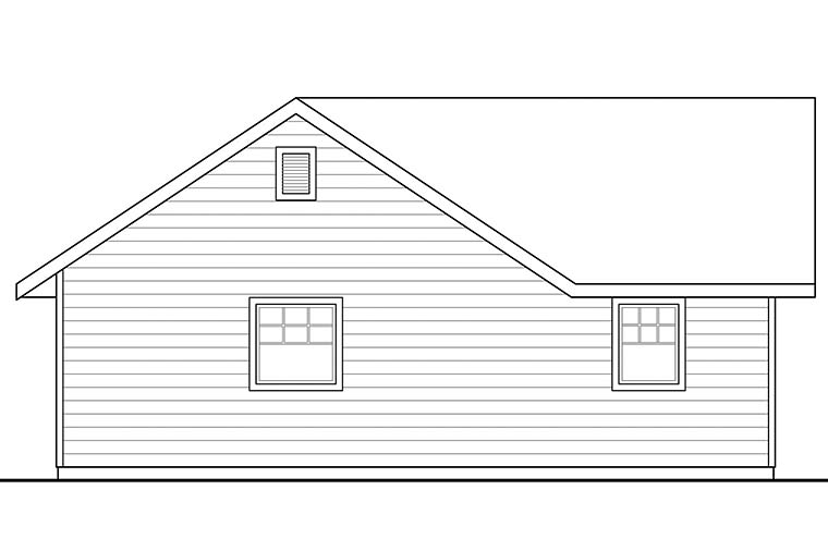 Traditional Rear Elevation of Plan 41293