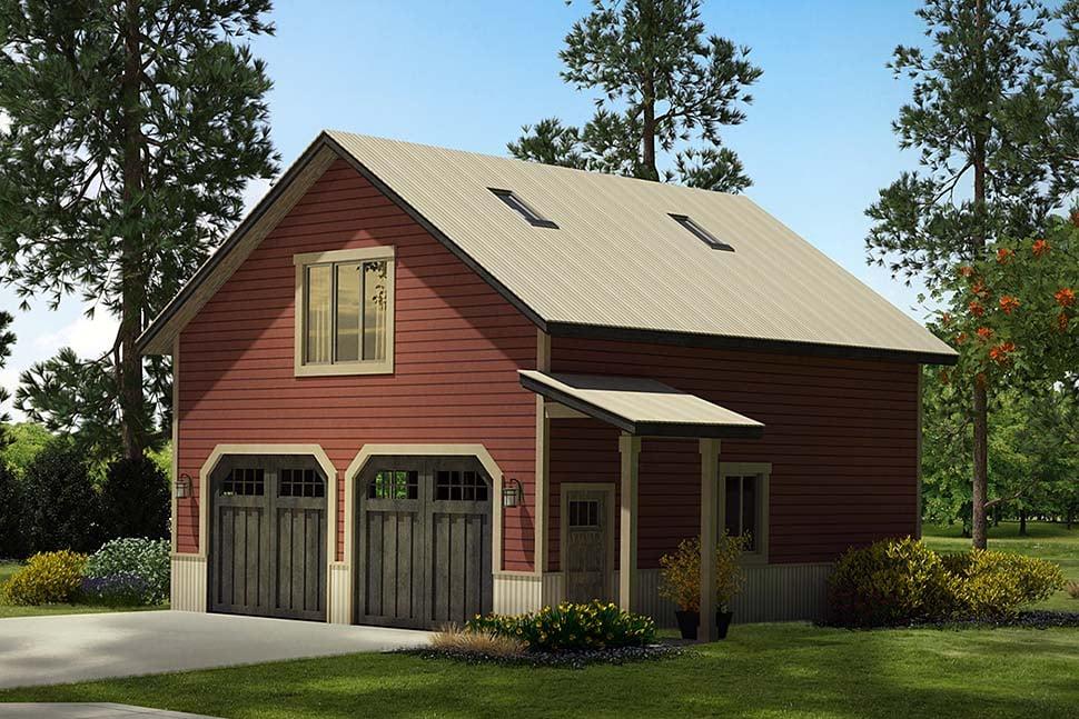 Country 2 Car Garage Apartment Plan 41294 Elevation