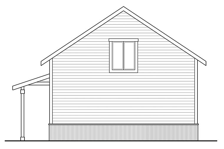 Country 2 Car Garage Apartment Plan 41294 Rear Elevation