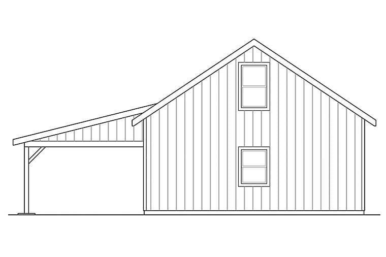 Traditional 2 Car Garage Plan 41296 Rear Elevation