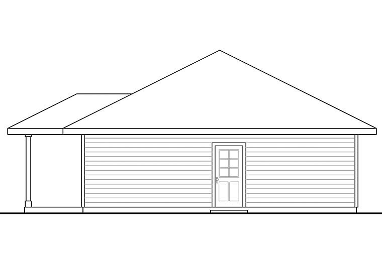Country 2 Car Garage Apartment Plan 41297 with 1 Beds, 1 Baths Picture 1