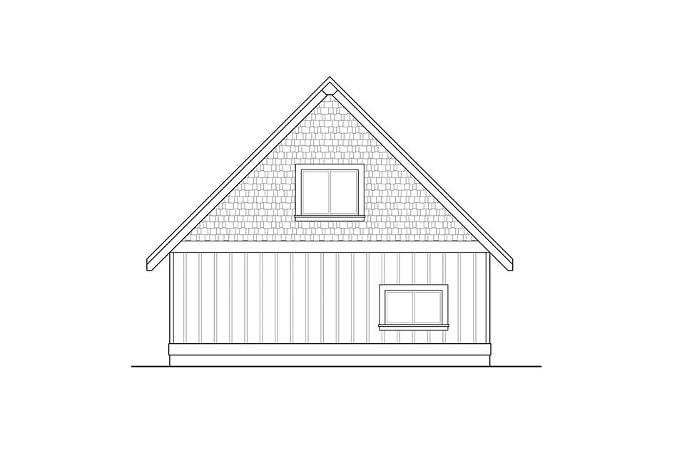Traditional Rear Elevation of Plan 41313