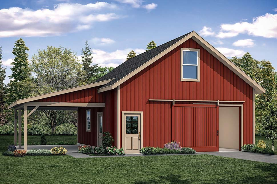 Ranch 2 Car Garage Plan 41314 Elevation