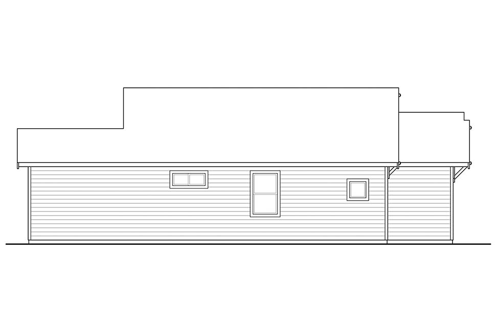 Cabin, Country, Traditional House Plan 41317 with 2 Beds, 1 Baths Picture 2