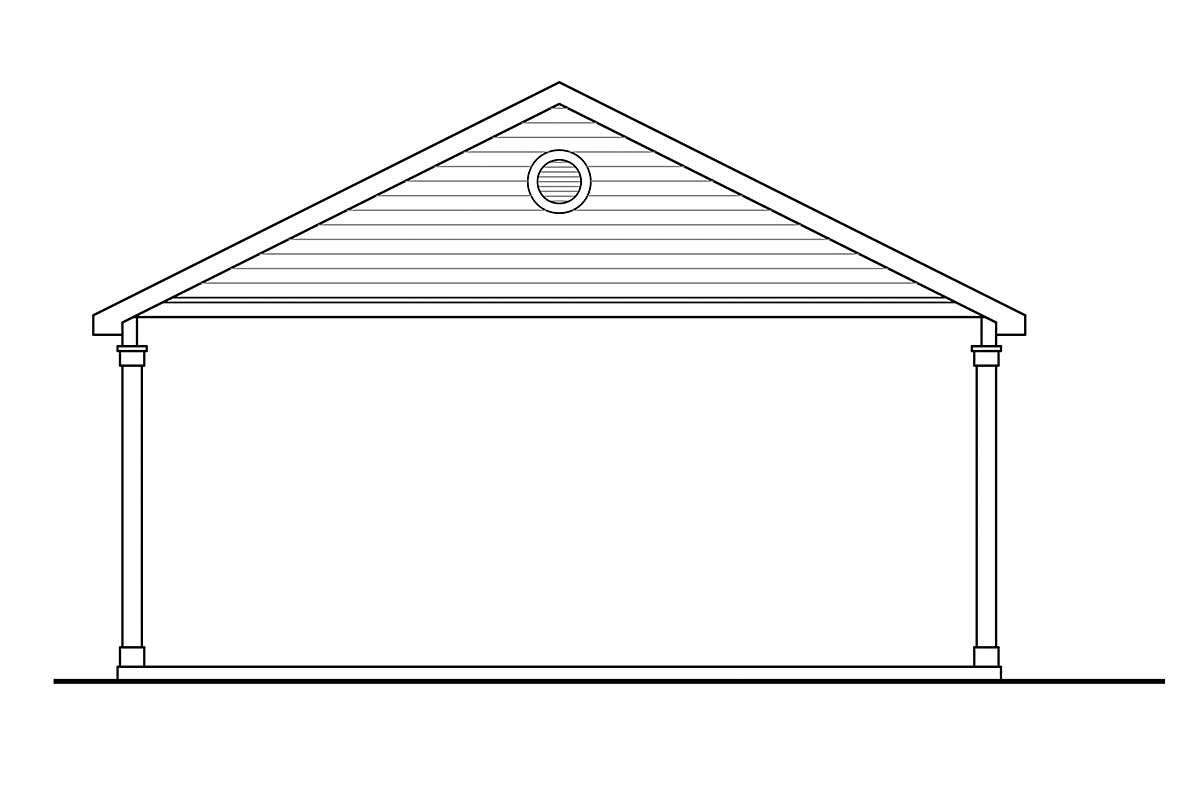 Traditional Rear Elevation of Plan 41365
