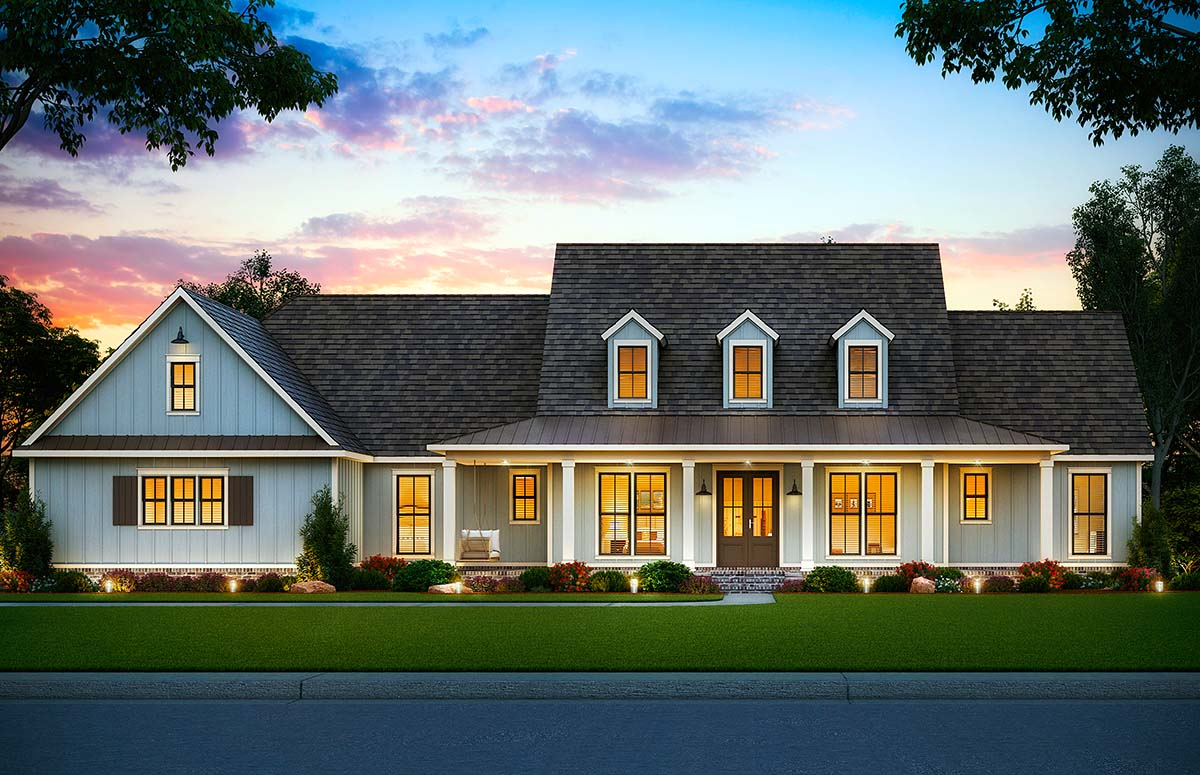 Country, Farmhouse House Plan 41406 with 5 Beds, 4 Baths, 3 Car Garage Picture 1