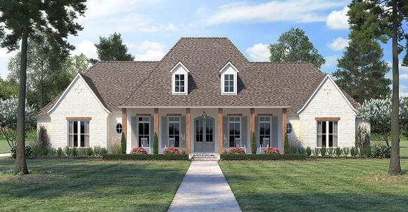 Acadian, Country, European, French Country House Plan 41415 with 4 Beds, 4 Baths, 3 Car Garage Elevation