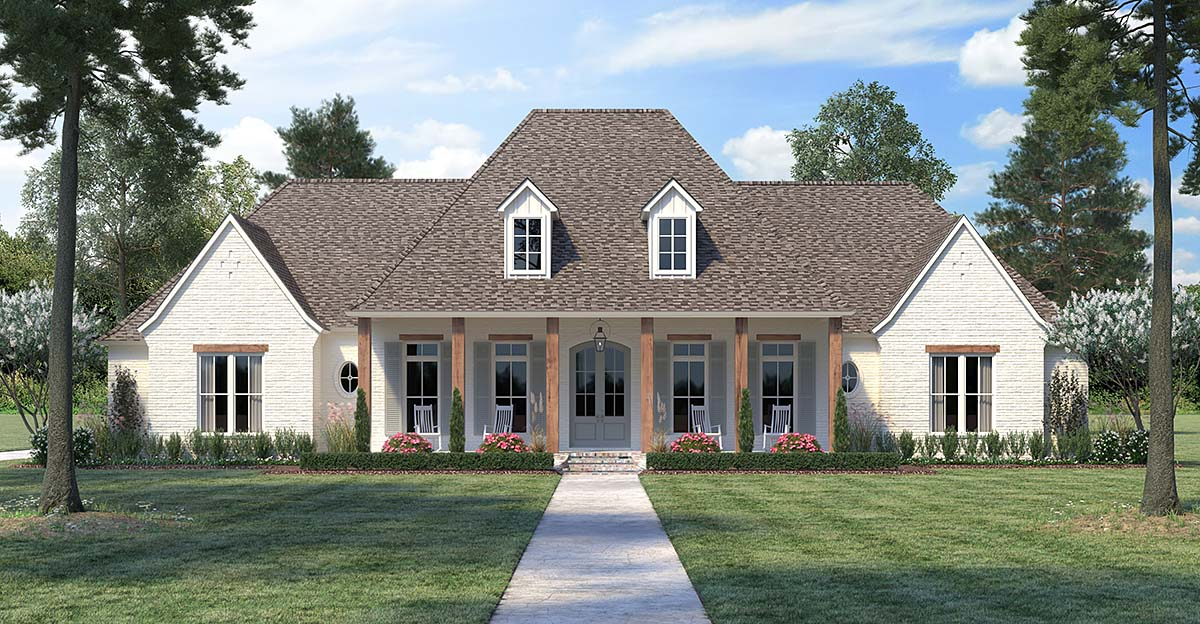 Picture of: House Plan 41415 French Country Style With 3273 Sq Ft 4 Bed 3 Bath 1 Half Bath