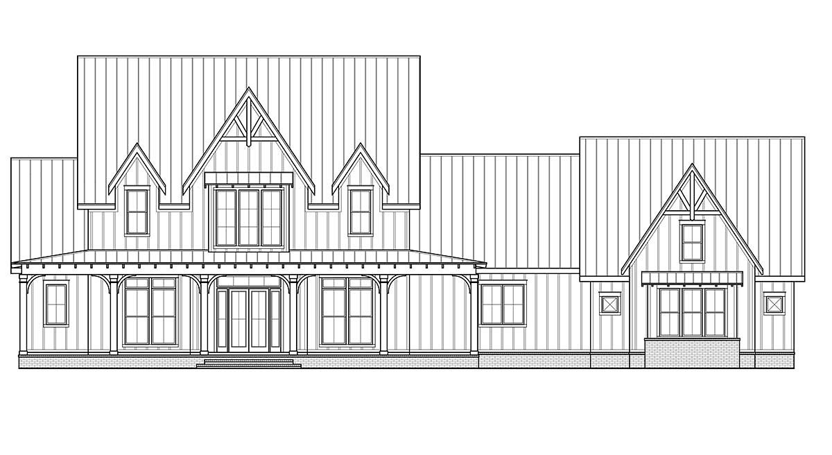 Country, Farmhouse House Plan 41420 with 4 Beds, 6 Baths, 3 Car Garage Picture 1
