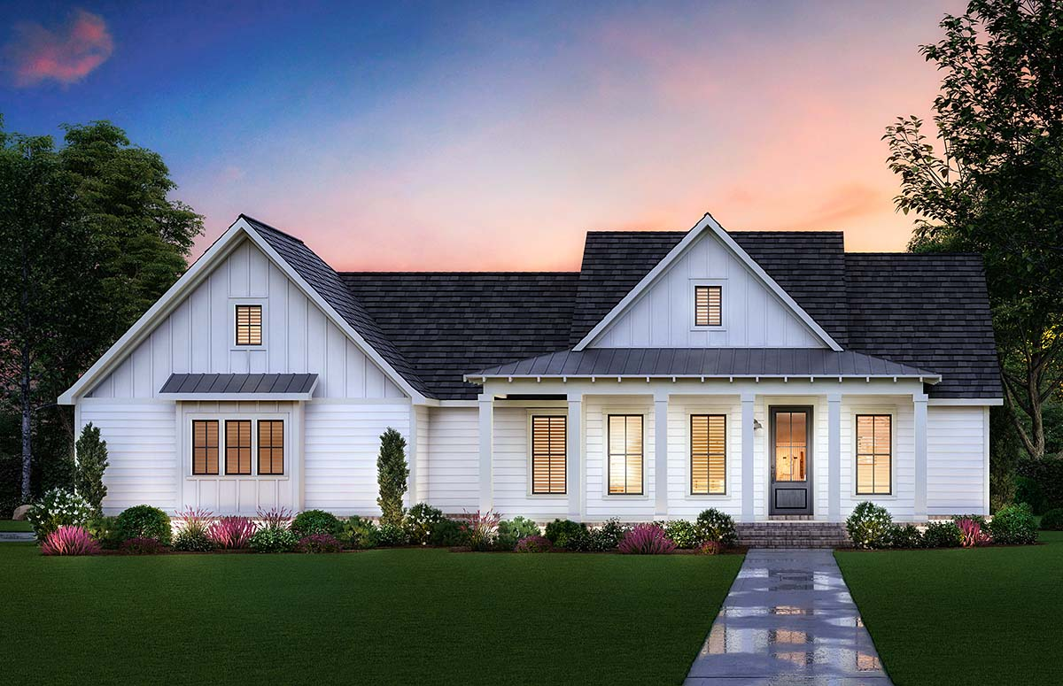 Country, Farmhouse, Southern House Plan 41422 with 3 Beds, 2 Baths, 2 Car Garage Picture 1