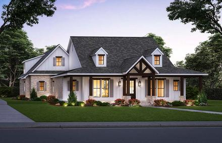 Country Farmhouse Elevation of Plan 41426