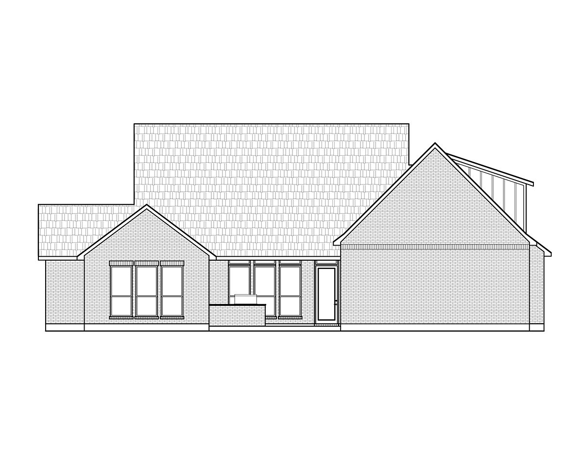 Country Farmhouse Rear Elevation of Plan 41426