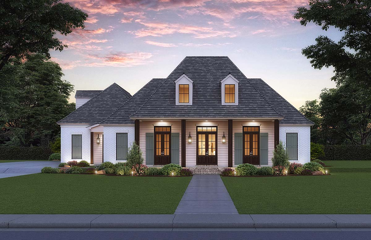 Acadian, French Country, Southern House Plan 41431 with 4 Beds, 3 Baths, 3 Car Garage Elevation