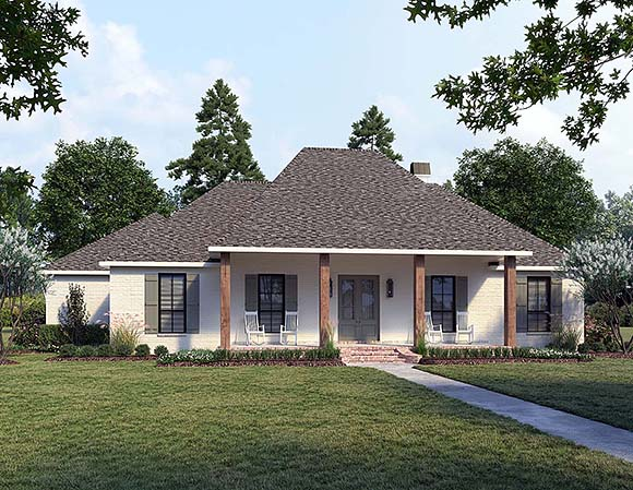 Acadian, French Country, Southern House Plan 41432 with 4 Beds, 3 Baths, 2 Car Garage Elevation