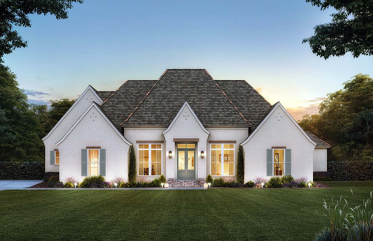 Acadian, European, French Country House Plan 41440 with 4 Beds, 3 Baths, 2 Car Garage Elevation