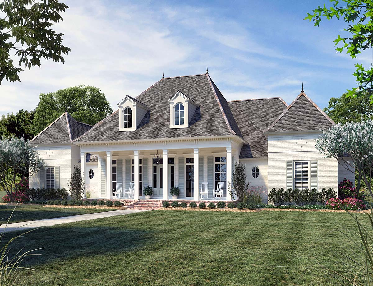 Acadian, French Country, Southern House Plan 41441 with 4 Beds, 4 Baths, 3 Car Garage Elevation