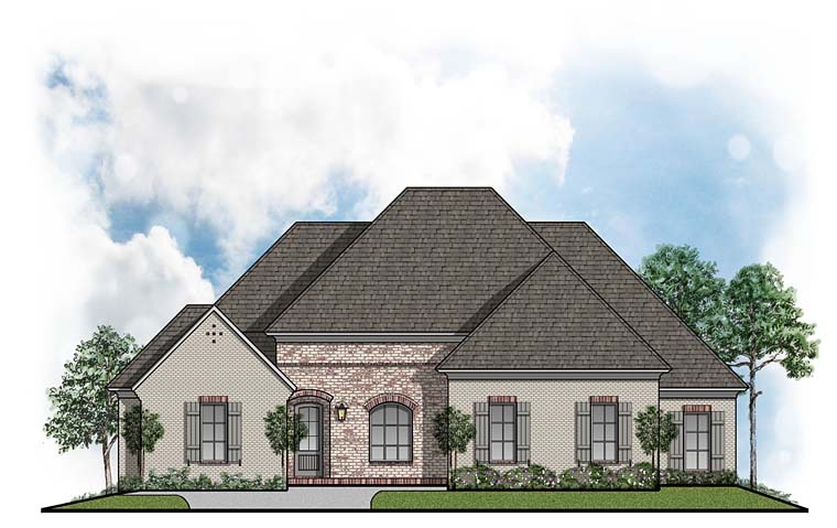 Colonial European House Plan 41515 Elevation