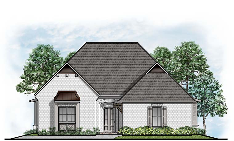 European Southern Traditional House Plan 41518 Elevation