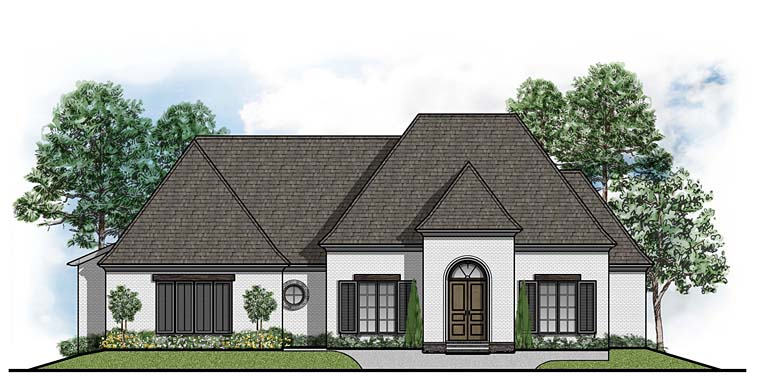 European Southern Traditional House Plan 41522 Elevation