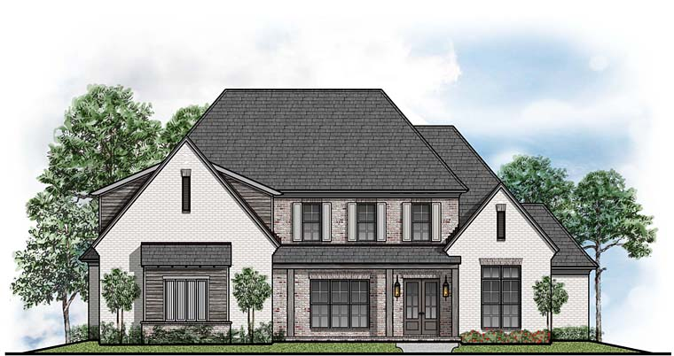 Contemporary Country Southern House Plan 41528 Elevation