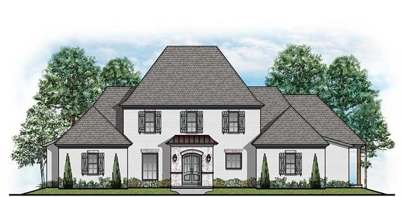 Colonial, Country, European House Plan 41532 with 4 Beds, 5 Baths, 3 Car Garage Elevation