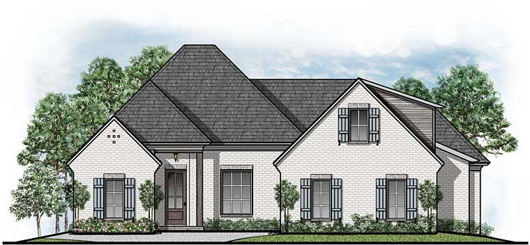 European Southern Traditional House Plan 41537 Elevation