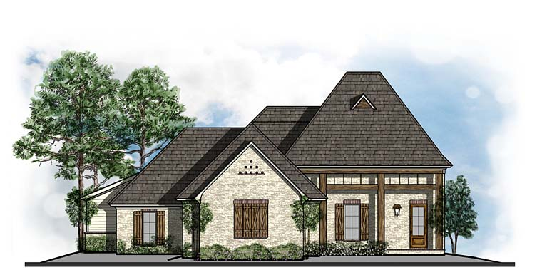 Cottage Country Craftsman European French Country Southern House Plan 41545 Elevation