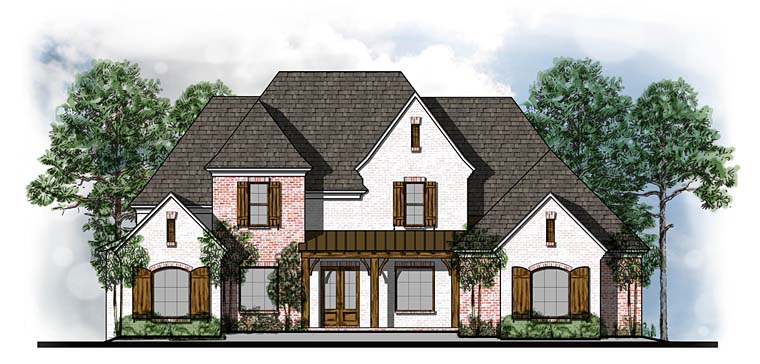 Country European French Country Southern Traditional House Plan 41557 Elevation