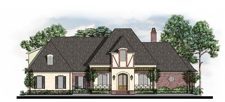 Country European French Country Southern Tudor House Plan 41564 Elevation