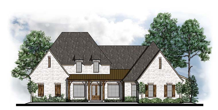 Country, European, French Country, Southern House Plan 41566 with 4 Beds, 4 Baths, 3 Car Garage Elevation