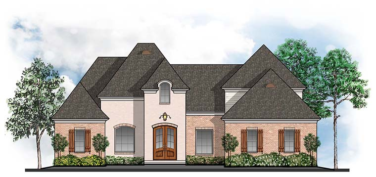 European Southern Traditional House Plan 41574 Elevation
