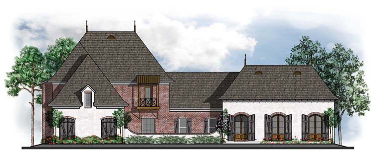Country European French Country Southern House Plan 41579 Elevation