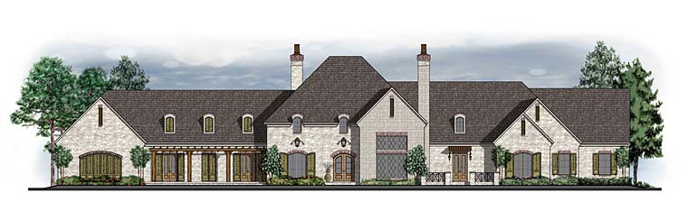 European Southern Traditional House Plan 41581 Elevation
