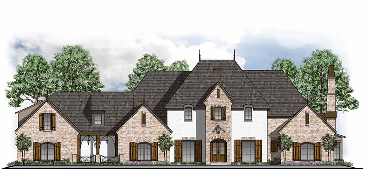 European French Country Southern Traditional House Plan 41591 Elevation