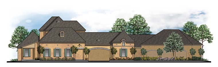 Southern Traditional House Plan 41596 Elevation