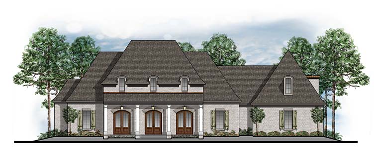 Colonial European French Country Southern House Plan 41597 Elevation