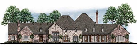 European, French Country, Southern, Traditional House Plan 41598 with 5 Beds, 6 Baths, 3 Car Garage Elevation