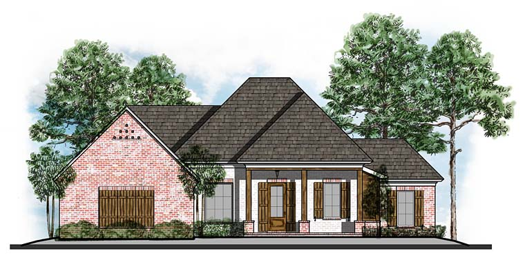 Country European Ranch Southern House Plan 41631 Elevation