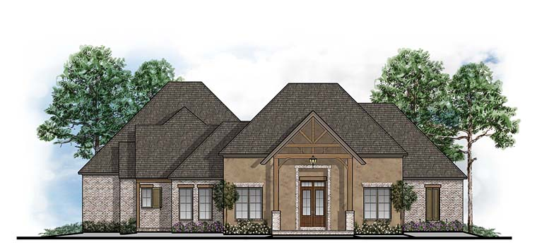 Craftsman, European, Southern House Plan 41640 with 4 Beds, 4 Baths, 3 Car Garage Elevation